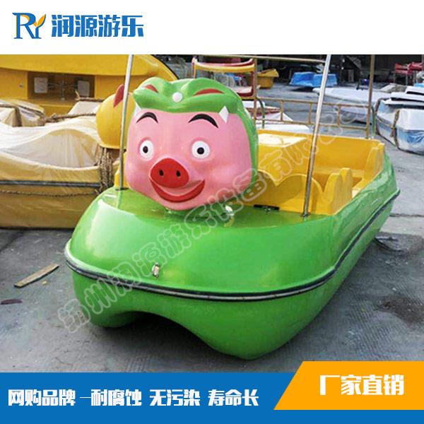 4人猪猪侠自排水脚踏船(绿色)